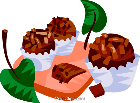 Brazilian chocolate fudge candy Royalty Free Vector Clip Art illustration vc111172
