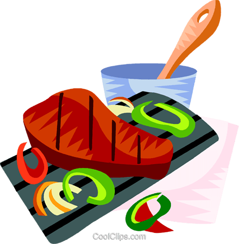 Churrasco, Brazilian barbecue Royalty Free Vector Clip Art illustration vc111175