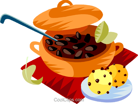 Feijoada, The Brazilian national dish Royalty Free Vector Clip Art illustration vc111182