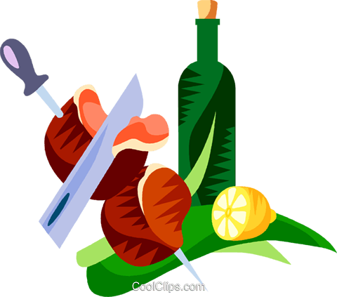 Picanha, Brazilian marinated steak Royalty Free Vector Clip Art illustration vc111185