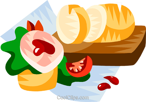 German pate and cranberries Royalty Free Vector Clip Art illustration vc111197