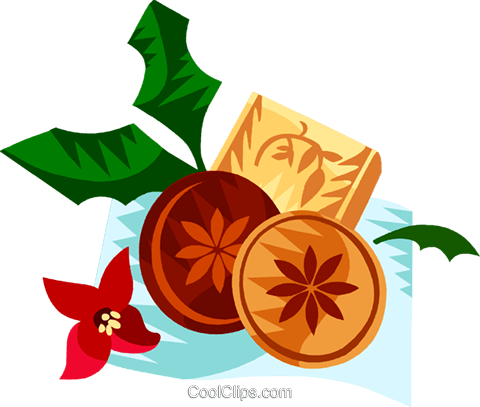 German Christmas springerle cookies Royalty Free Vector Clip Art illustration vc111202