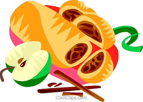 Austrian apple strudel Royalty Free Vector Clip Art illustration vc111209