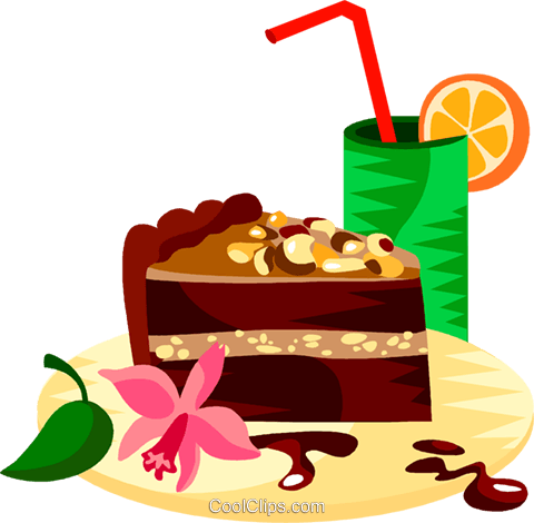 German chocolate cake Royalty Free Vector Clip Art illustration vc111210