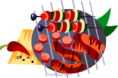 shish kebabs Royalty Free Vector Clip Art illustration vc111212