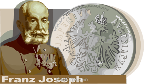 Franz Joseph, Emperor of Austria Hungary Royalty Free Vector Clip Art illustration vc111221