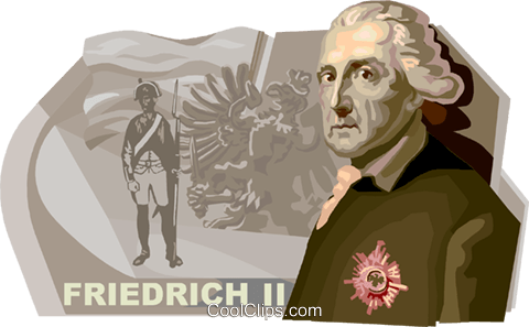 Friedrich II, The Prussia King Royalty Free Vector Clip Art illustration vc111222