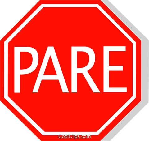 Brazilian stop sign Royalty Free Vector Clip Art illustration vc111223