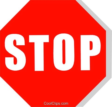 stop sign Royalty Free Vector Clip Art illustration vc111224