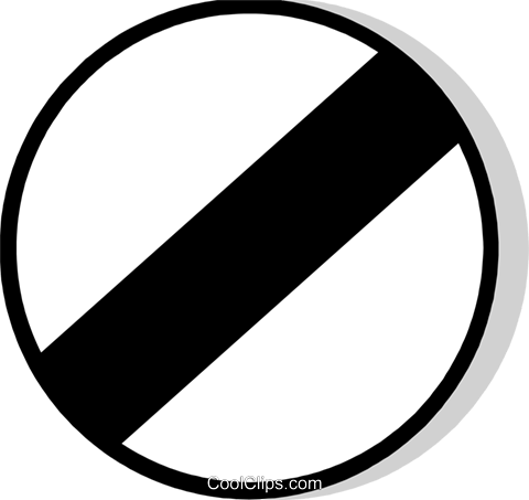 EU traffic sign, end of all restrictions Royalty Free Vector Clip Art illustration vc111225