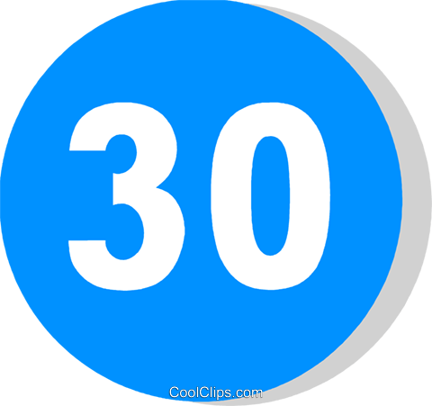EU traffic sign, minimum speed limit Royalty Free Vector Clip Art illustration vc111232