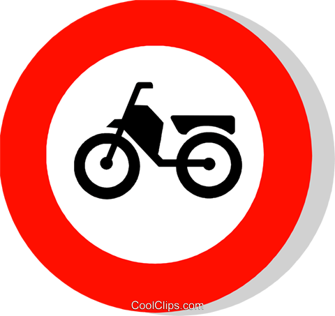 EU traffic sign, no mopeds Royalty Free Vector Clip Art illustration vc111250