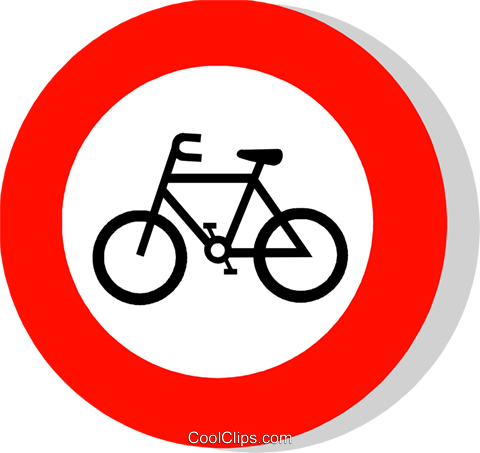 EU traffic sign, cycles prohibited Royalty Free Vector Clip Art illustration vc111251