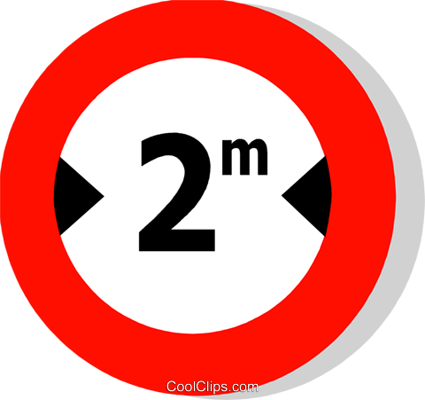 EU traffic sign, width limit Royalty Free Vector Clip Art illustration vc111257