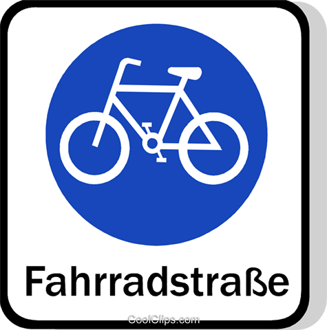 EU traffic sign, cyclists allowed Royalty Free Vector Clip Art illustration vc111260