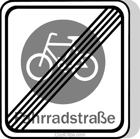 EU traffic sign, cyclists prohibited Royalty Free Vector Clip Art illustration vc111261