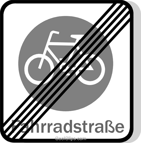 EU traffic sign, cyclists prohibited Royalty Free Vector Clip Art illustration vc111262