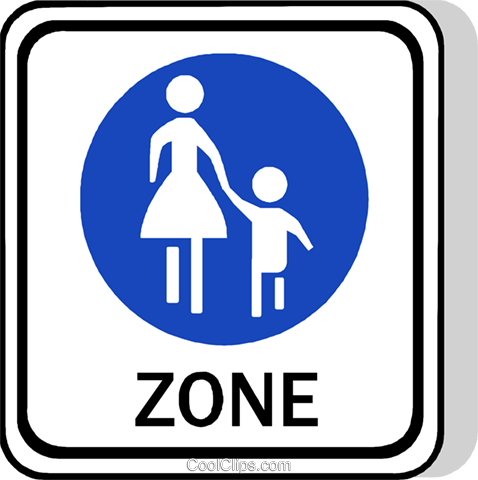 EU traffic sign, footpath Royalty Free Vector Clip Art illustration vc111263