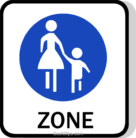 EU traffic sign, footpath Royalty Free Vector Clip Art illustration vc111264