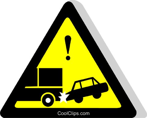 EU road sign, attention Royalty Free Vector Clip Art illustration vc111282