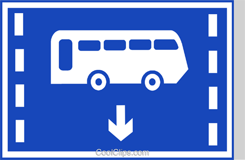 EU road sign, bus lane Royalty Free Vector Clip Art illustration vc111290