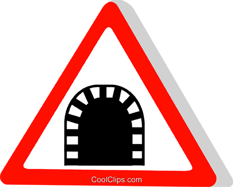 EU traffic sign, tunnel Royalty Free Vector Clip Art illustration vc111308