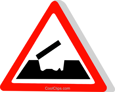 EU traffic sign, open bridge Royalty Free Vector Clip Art illustration vc111309