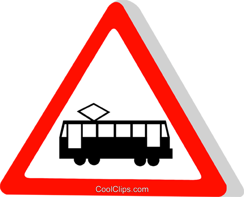 EU traffic sign, street car Royalty Free Vector Clip Art illustration vc111313