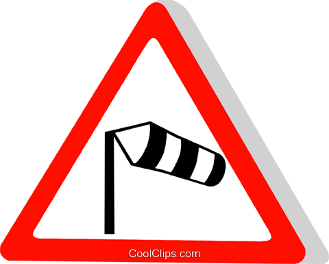EU traffic sign, cross wind Royalty Free Vector Clip Art illustration vc111315