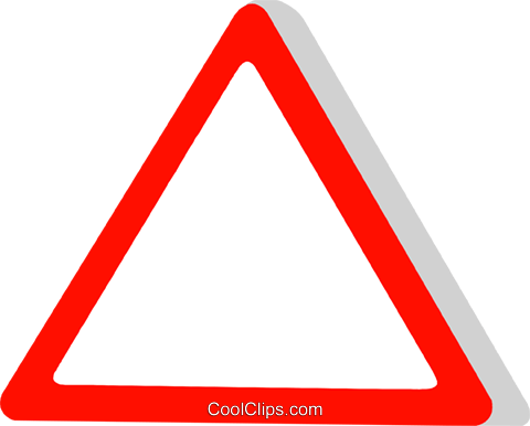 EU traffic sign, yield Royalty Free Vector Clip Art illustration vc111316