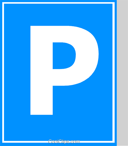 EU traffic sign, parking Royalty Free Vector Clip Art illustration vc111332