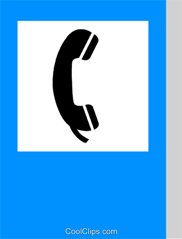 EU traffic sign, telephone Royalty Free Vector Clip Art illustration vc111339