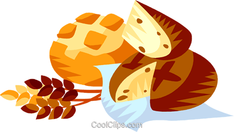 EU European cuisine French bread Royalty Free Vector Clip Art illustration vc111352