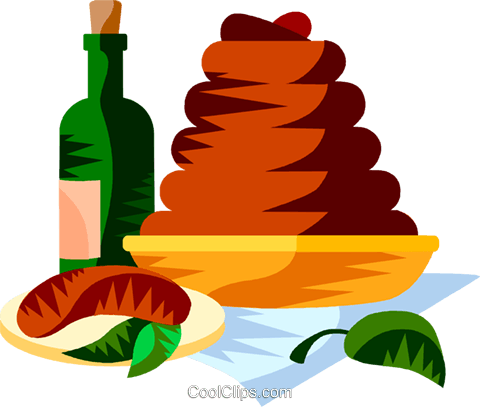 EU European cuisine boudin Royalty Free Vector Clip Art illustration vc111353
