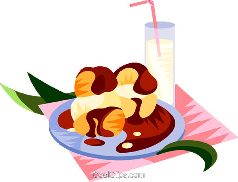 EU European cuisine French pastry Royalty Free Vector Clip Art illustration vc111365
