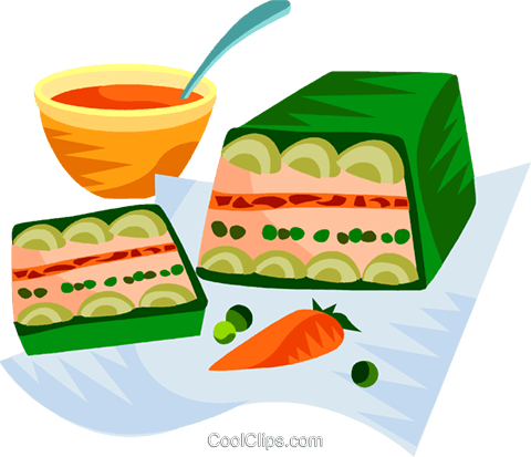 EU European cuisine vegetable terrine Royalty Free Vector Clip Art illustration vc111370