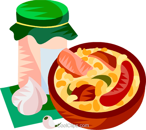 EU European cuisine cassoulet Royalty Free Vector Clip Art illustration vc111378