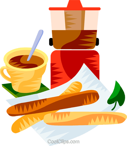 EU European cuisine churros Royalty Free Vector Clip Art illustration vc111382