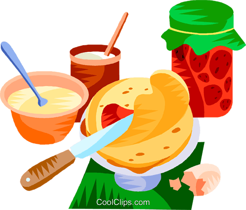 EU European cuisine crêpes Royalty Free Vector Clip Art illustration vc111385