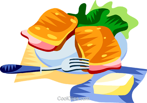 EU European cuisine croque monsieur Royalty Free Vector Clip Art illustration vc111387