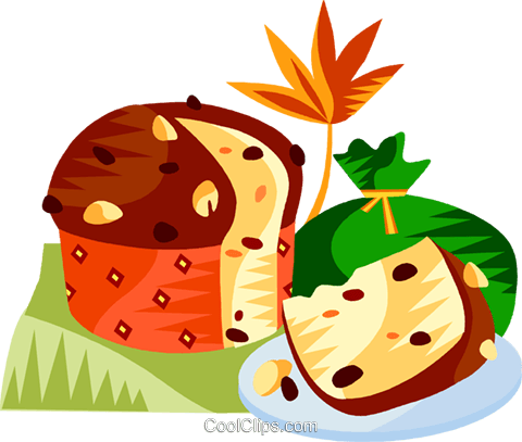 EU European cuisine panettone Royalty Free Vector Clip Art illustration vc111389