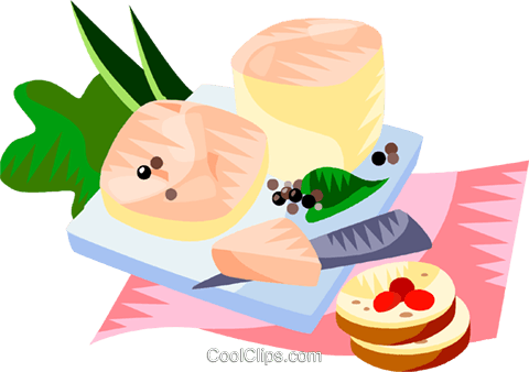 EU European cuisine foie gras Royalty Free Vector Clip Art illustration vc111390