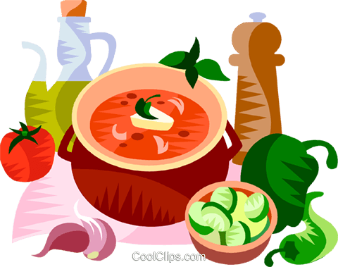 EU European cuisine gazpacho Royalty Free Vector Clip Art illustration vc111391