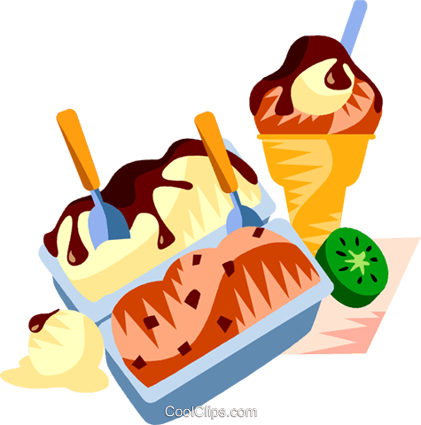 EU European cuisine gelato Royalty Free Vector Clip Art illustration vc111392