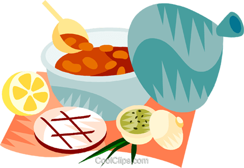 EU European cuisine harira Royalty Free Vector Clip Art illustration vc111394