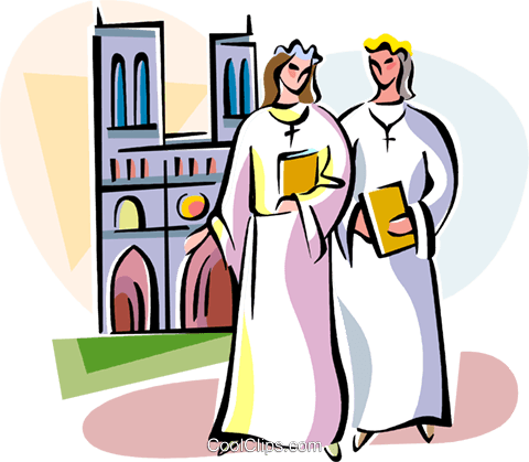 Religious Holidays France Communion Girl Royalty Free Vector Clip Art illustration vc111408