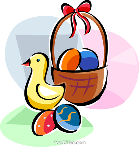 Religious Holidays France Easter Chick Royalty Free Vector Clip Art illustration vc111415