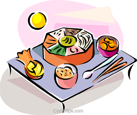 Religious Holidays Korea Food Royalty Free Vector Clip Art illustration vc111419