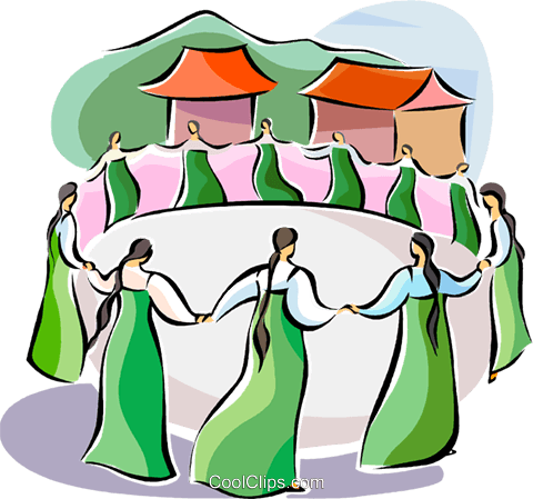 Religious Holidays Korea Ch'usok Royalty Free Vector Clip Art illustration vc111421
