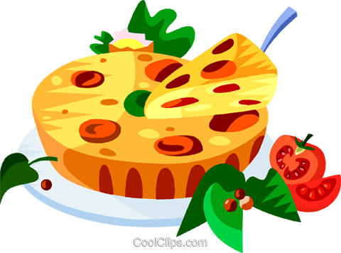 EU European cuisine quiche Royalty Free Vector Clip Art illustration vc111424